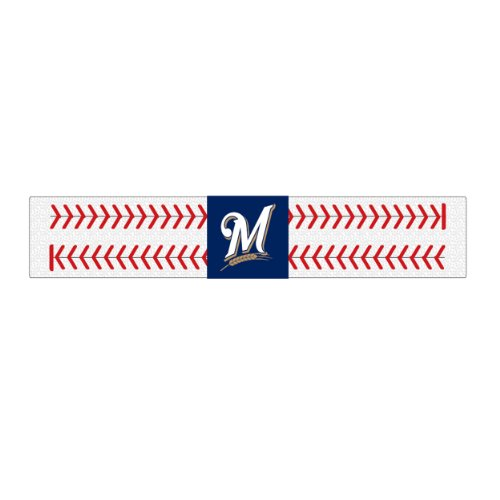 Gamewear 2 Seamer Leather Wristband - Milwaukee Brewers at Amazon.com