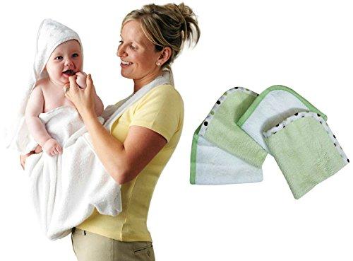 Clevamama Splash N Wrap Apron Towel With Organic Cotton Wash Cloths