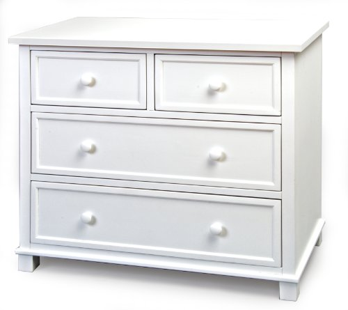 Child Craft 3 Drawer Single Dresser, White - 1