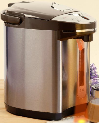 Secura 4-Quart Electric Water Boiler and Warmer SWB-42G, 18/10 Stainless Steel Interior,Eclipse Grey