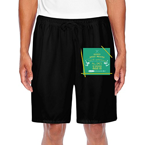 Trainning Men's Short Sweat Pants Genius Only Means Hard Working All One For Casual Exercise (Suarez Cycling Shorts compare prices)