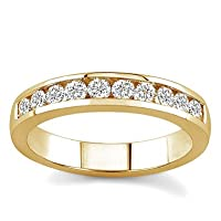 18k Yellow Gold Channel-Set Diamond Band (G/VS2, 1/2 ct. tw.)