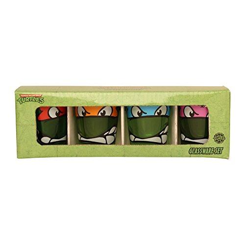 Silver Buffalo NT031SG5 Nickelodeon Teenage Mutant Ninja Turtles (TMNT) Shot Glasses, 4-Pack