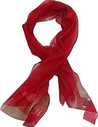 Wander Agio Women's Fashion Shade Large Shawl 55% Silk Scarf Color Matching Red