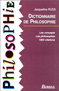 Dictionnaire de philosophie par Jacqueline Russ