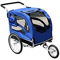 Blue Dog Bike Trailer / Stroller Combo