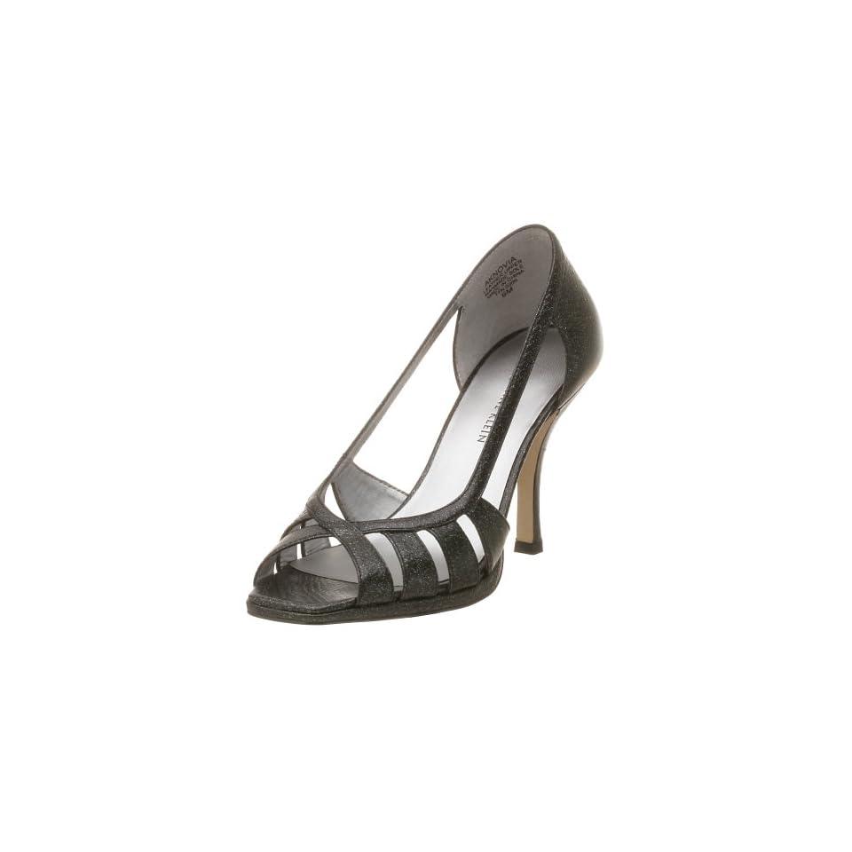 AK Anne Klein Womens Novia Dress Shoe,Black Leather,6 M