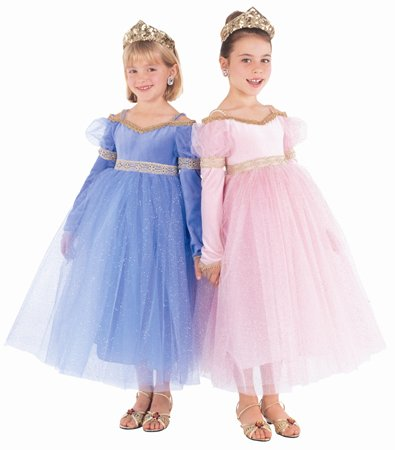 Beautiful Blue Glitter Gown for Dress-Up, Flower Girl (Tiara not included)