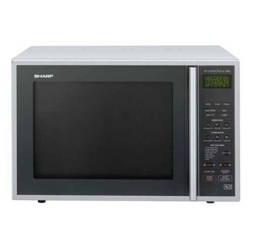 Sharp R959SLMA 40 litre 900 watt Digital Combination Microwave Oven with Quartz Grill, Silver