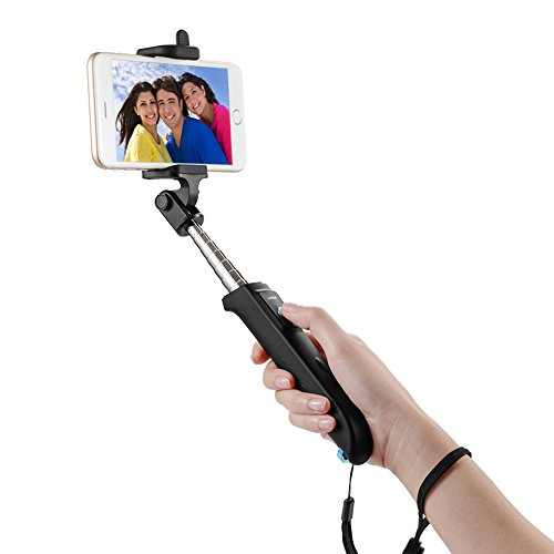Selfie Stick, Anker [new Generation] Bluetooth Selfie Stick With Adjustable Phone Holder And Built-in Bluetooth Remote Shutter For Iphone 6s, 6, 5s, Android And All Other Smartphones (black)