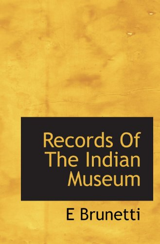 Records Of The Indian Museum