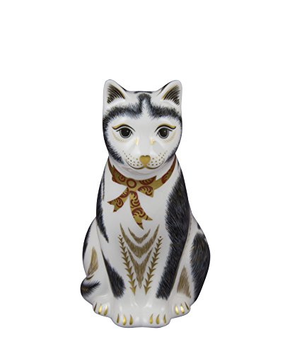 Royal Crown Derby, colore: bianco e nero a forma di gatto, in acciaio INOX, colore: multicolore