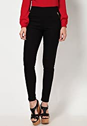 ELLIS Cotton Lycra BlackJeggings Form Women