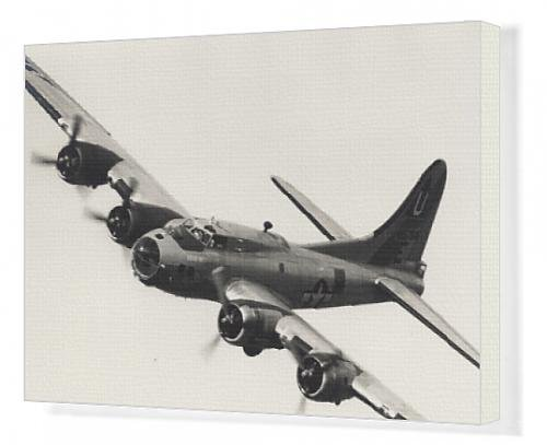 Canvas Artwork of Boeing B-17G Flying Fortress, /G-BEDF, Sally B