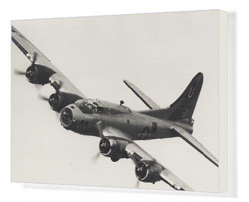 Canvas Artwork of Boeing B-17G Flying Fortress, /G-BEDF, Sally B