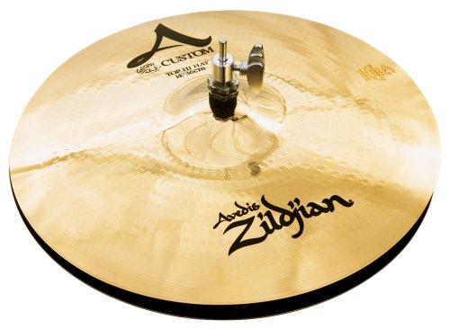 "Zildjian A Custom 14"" Hi Hat Cymbal Pair, Brilliant"