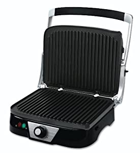 Oster CKSTPM5450 Panini Maker with Removable Plates, Black