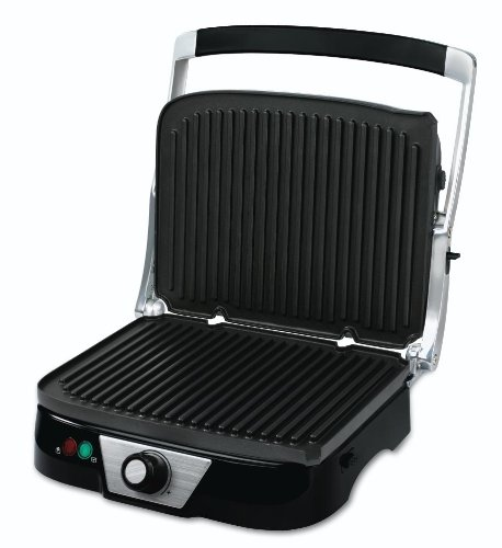 Oster Ckstpm5450 Panini Maker With Removable Plates, Black front-36968