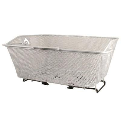Eleven81 Wire Mesh Quick Release Rear Mounted Bike Basket - Silver - BASK3062