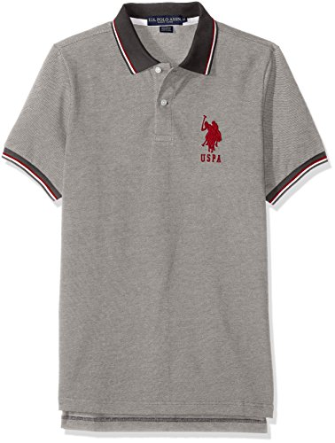 U.S. Polo Assn. Men's Color Tipped Collar and Sleeve Cuff Pique Polo Shirt