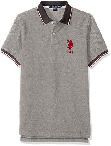 U.S. Polo Assn. Men's Color Tipped Collar and Sleeve Cuff Pique Polo Shirt