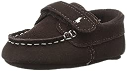 Ralph Lauren Layette Captain EZ Loafer (Infant/Infant), Brown, 1 M US Infant
