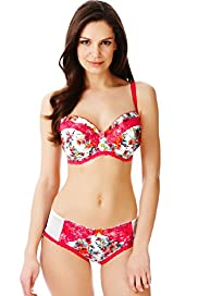 Limited Collection Floral Print Balcony DD-GG Bra