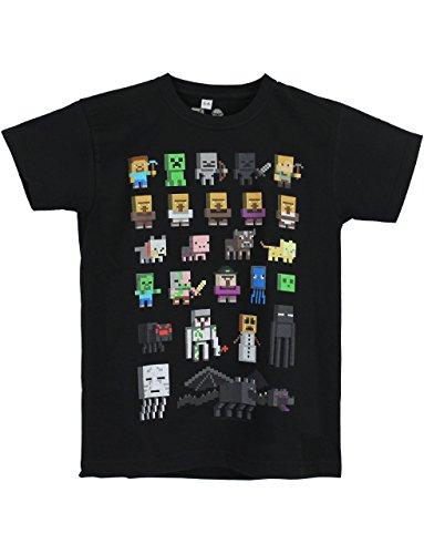 Character-DE-Camiseta-de-manga-corta-para-nio-Negro-negro