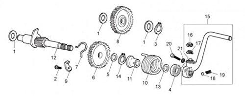 Spring of Kick Original Motorcycle Derbi Bultaco Lobito 199819992000847057New