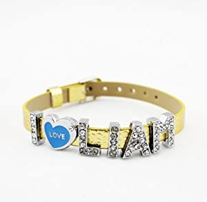 One Direction Crystal Slider Letter Wristband Bracelet - I Love Liam by Fun Daisy Jewelry