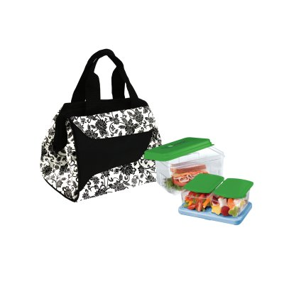 Fit&Fresh 372Ff22 Ebony Print Lunch Kit Downtown With Log
