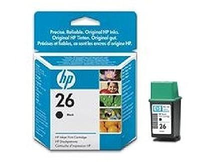 51626AE hP ink cartridge hP 26 noir cartouche d'encre noir (26 à haut rendement :  1 mio caractères 800 pages à 5 %  de recouvrement, pour hP deskjet 550C/56/400
