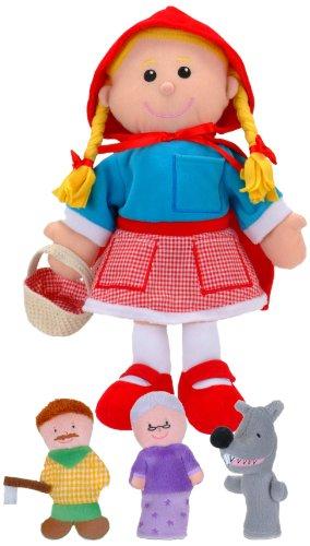 Fiesta Crafts - T-2686 - Marionnettes À Main - Coffret - Chaperon Rouge