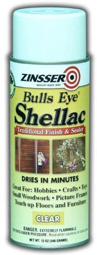 Rust-Oleum Zinsser 408 Bulls Eye Clear Shellac Spray - 6 Pack