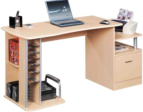 Large COMPUTER DESK in Maple with FREE EXPEDITED DELIVERY (PC41m)