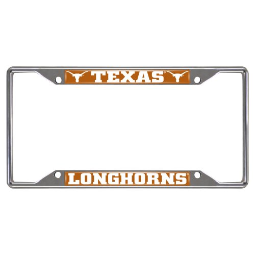 FANMATS NCAA University of Texas Longhorns Chrome License Plate Frame (Sports Team License Plate Frames compare prices)
