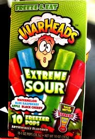 Warheads Extreme Sour Freezer Pops 10 boxes