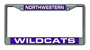 Buy NCAA Northwestern Wildcats Laser Chrome Frame by Rico