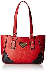 Fantosy Women's Handbag (Red and Black) (FNB-302)
