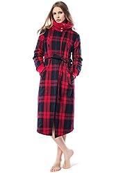 John&elaine Women's Cotton Knitted Long Robe