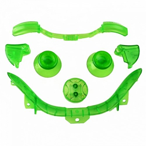 Custom Mod Thumbsticks D Pad Rt Lt Rb Lb And Bottom Trim For Xbox 360 Controller (Clear Green)