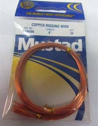 2 PACK MUSTAD COPPER RIGGING WIRE 9
