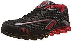 Steemo Men's Black and Red Running Shoes - 9 UK/India (43 EU)(STM1024)