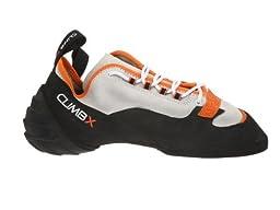 CLIMB X Technician Lace Climbing Shoe with FREE Mammut Carabiner ($10 Value) (Men\'s US 5.5, Grey)