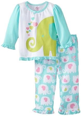 Amazon Little Me Baby girls Infant Elephant 2 Piece