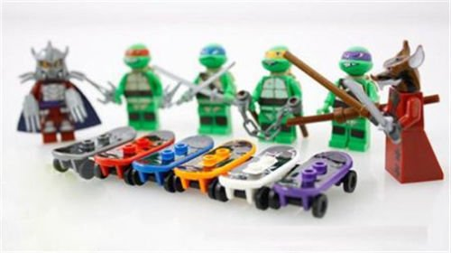 6 pcs Minifigures Teenage Mutant Ninja Turtles Building Toy Donatello