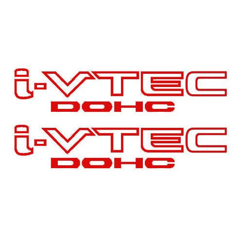 2 Pieces RED I-VTEC DOHC STICKER DECAL EMBLEM CIVIC S2000 ACCORD JDM IMPORT ILLEST (Vtec Dohc Emblem compare prices)