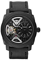 Fossil Machine Twist Leather Watch Black Me1121 from FOSSIL