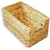kmh grosse korb box aus geflochtener wasserhyazinthe 204036 k che haushalt. Black Bedroom Furniture Sets. Home Design Ideas