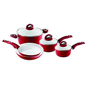 Bialetti Aeternum Red 7252 8 Piece Cookware Set